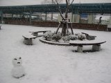 雪だるまとパドック