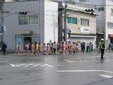 丸島町の交差点。JR宮崎駅へ向かう