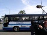 産業再生機構の支援が決まった宮崎交通のバスに乗って出発